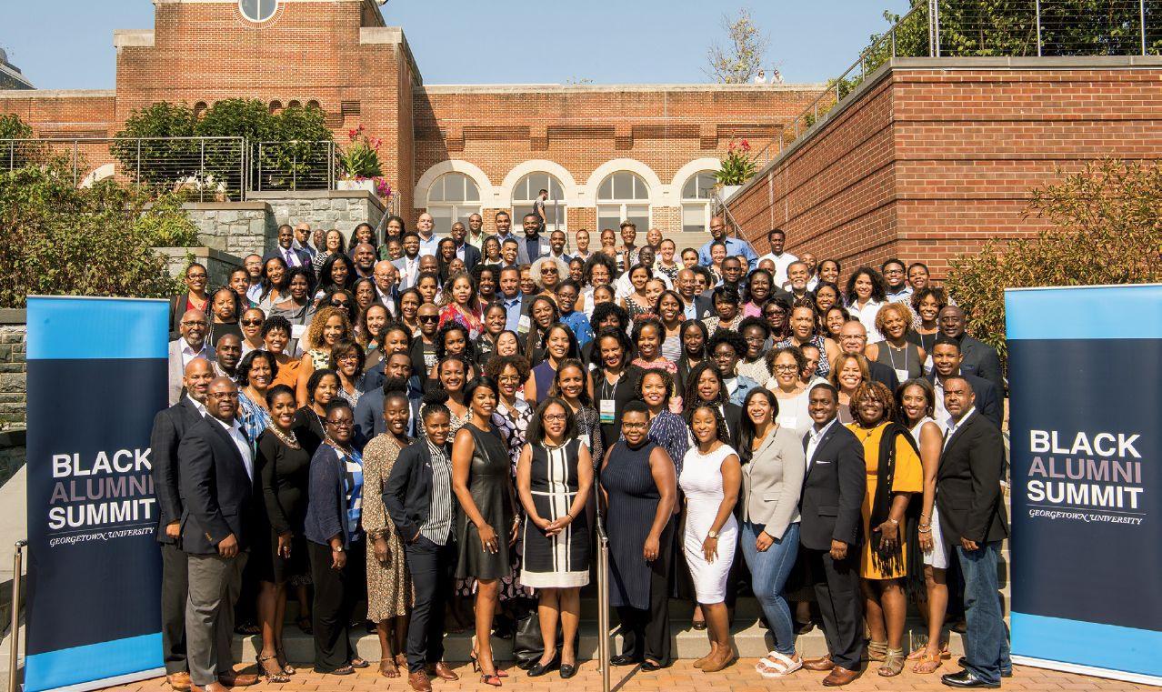 attendees of black alumni summit 2019 posing