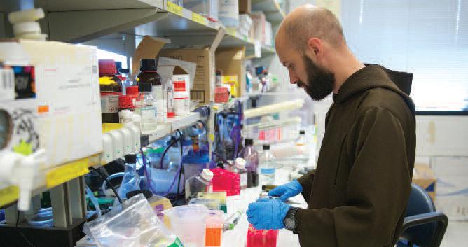 man working in lab