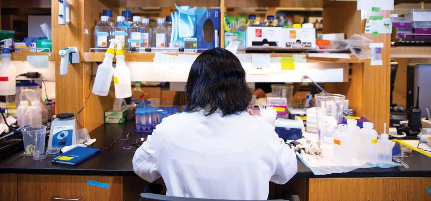 Mansa Gurjar working at lab station