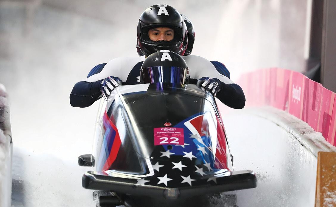 Chris Kinney bobsledding