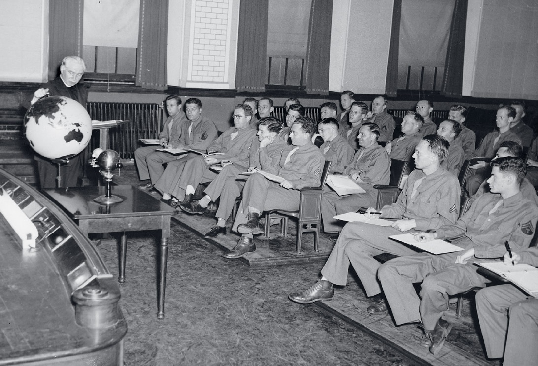 Old picture of School of Foreign Service