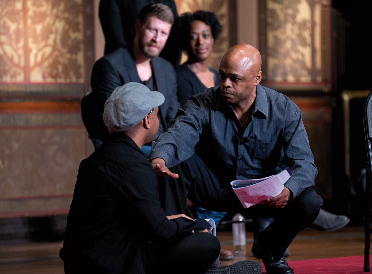 Actors from theater companies in Sweden and South Africa—and Washington D.C.'s Arena Stage—perform scenes from A Raisin in the Sun in Gaston Hall as part of World Theater Day 2017.