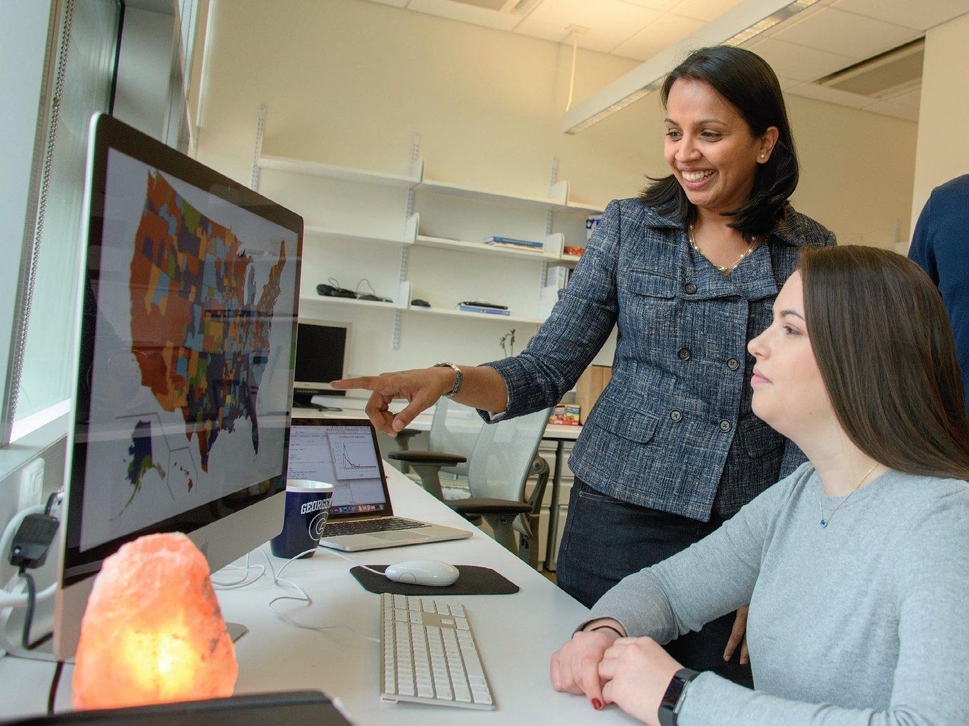 Shweta Bansal, an assistant professor of biology at Georgetown