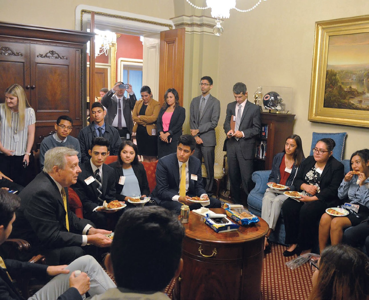 Senator Richard Durbin (F'66, L'69) co-introduced the Dream Act of 2017, a bipartisan bill that would provide a direct road to U.S. citizenship