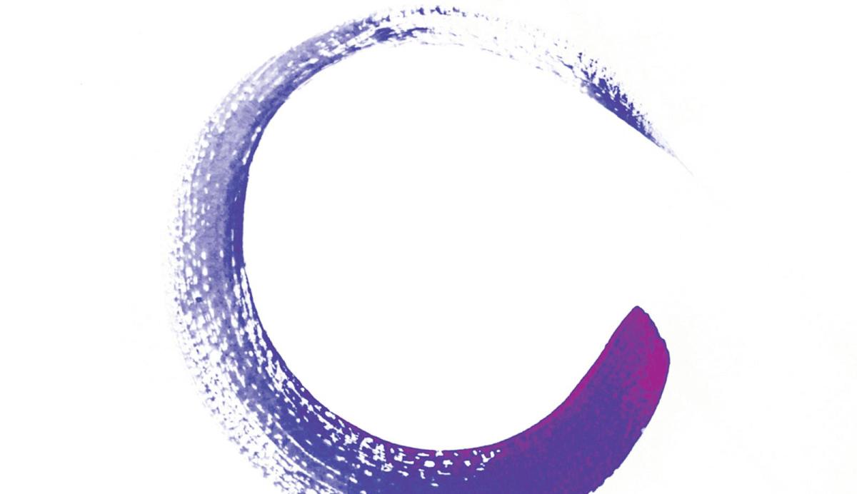 purple brush stroke in shape of circle