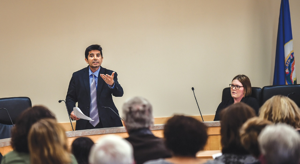 Dr. Ayaz Virji talking passionately