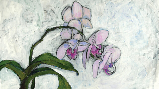 A painting by artist and physician Carol E. Kennedy