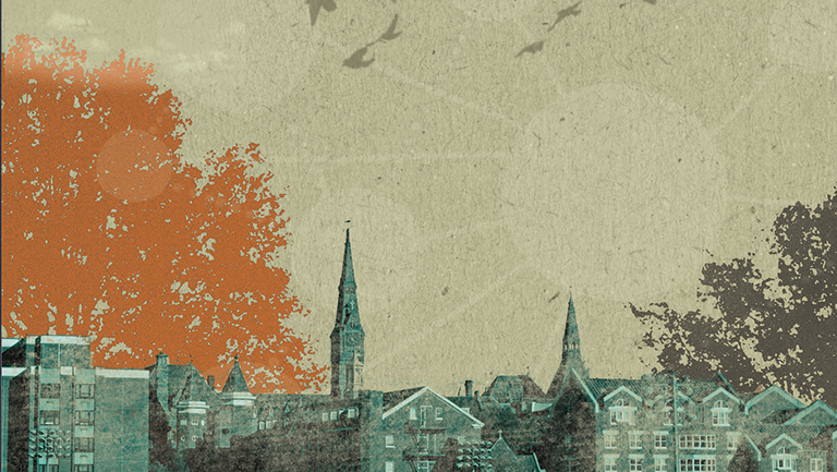 abstract graphic of georgetown campus