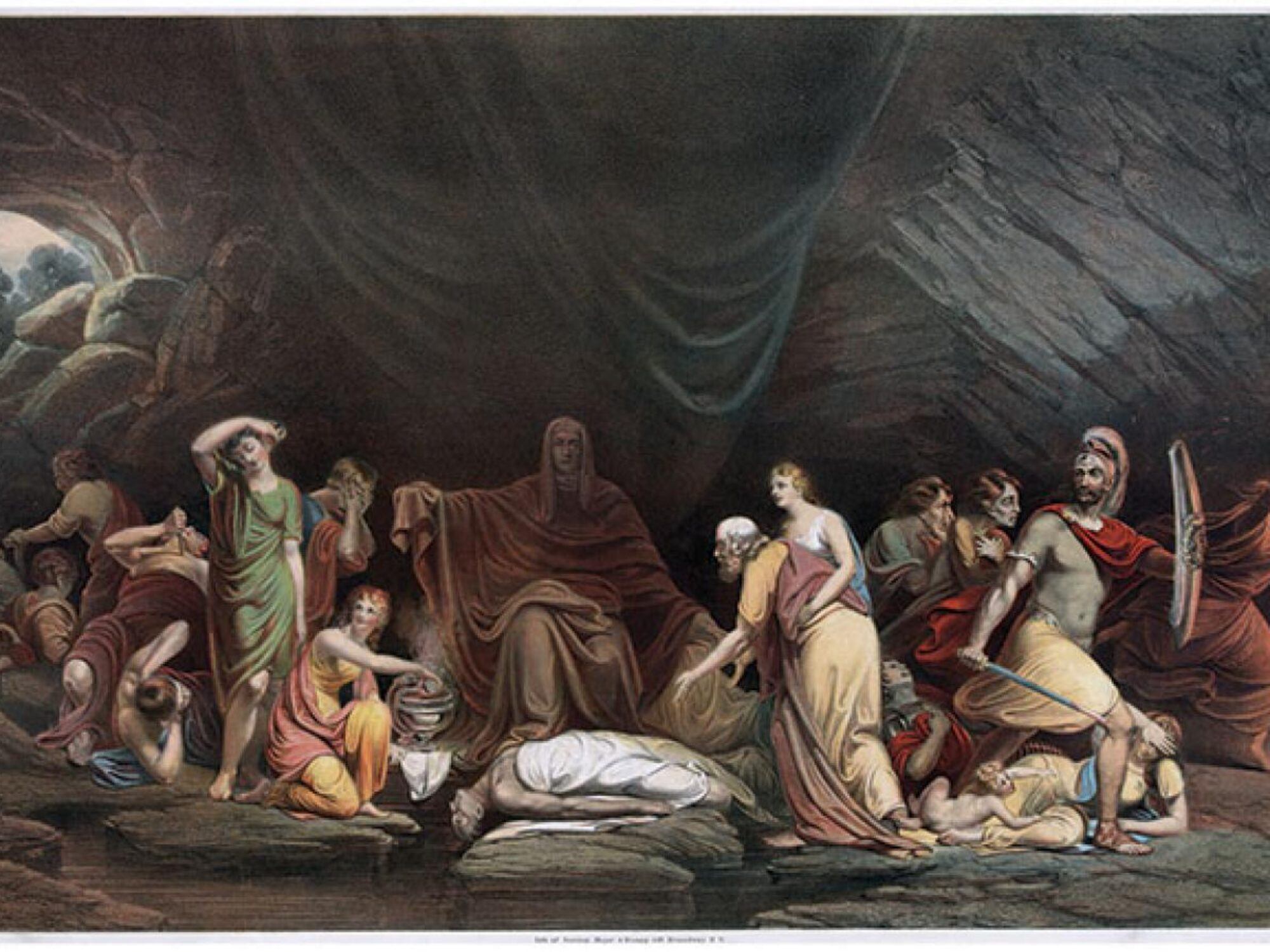 old painting of the court of death in 1820