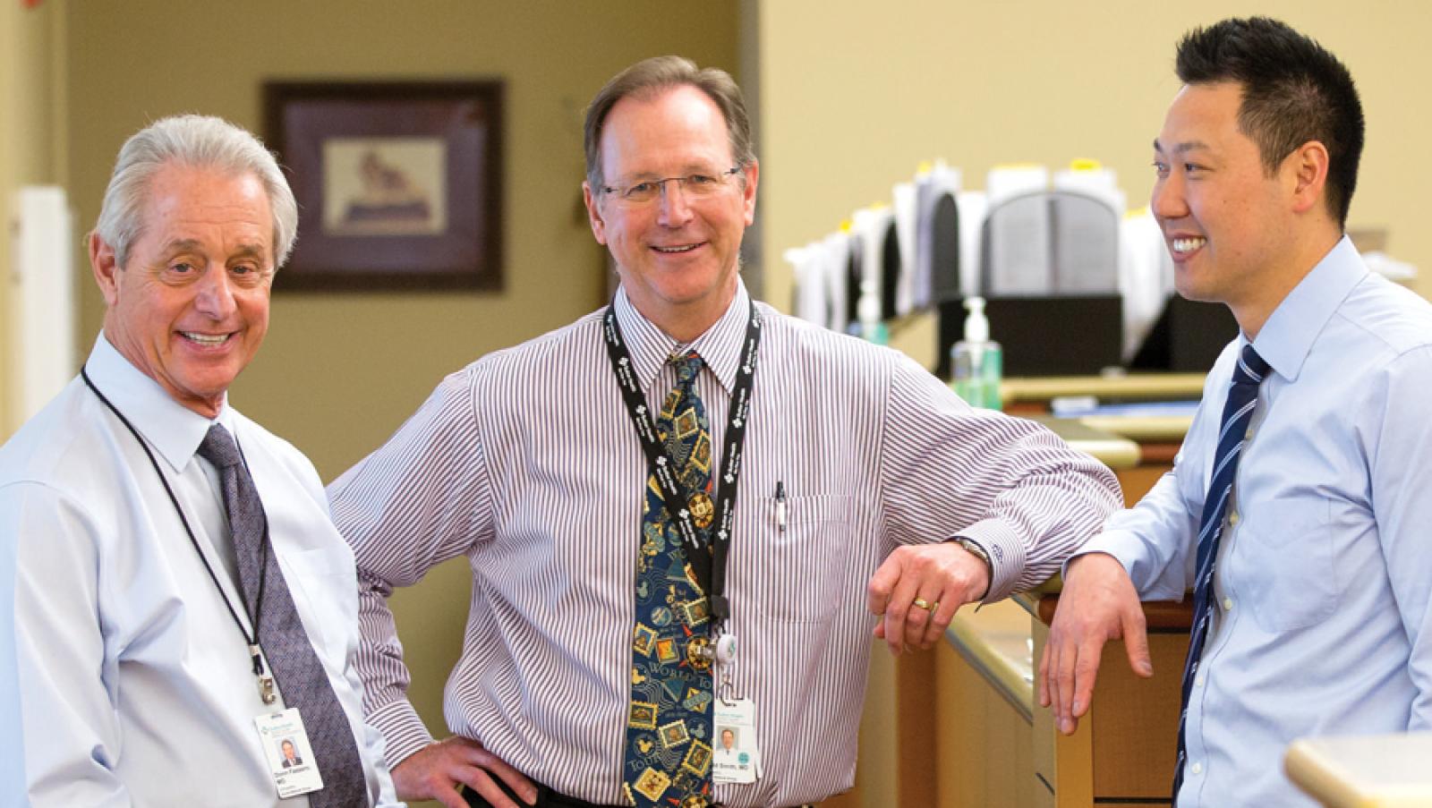 Doctors Donn Fassero (M'74), Todd Smith (M'91), and Richard Han (M'09)
