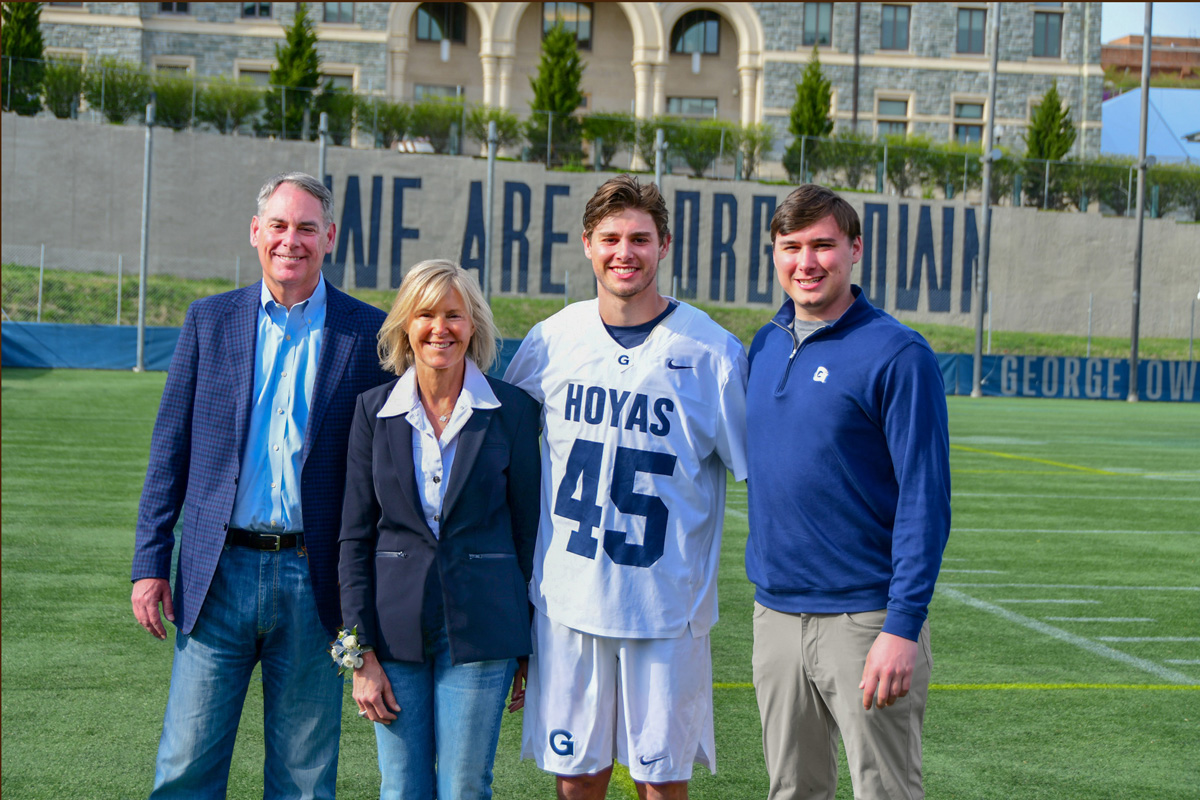 e. Chris and Mary Behrens are parents of Matt (C'18, L'22) who played lacrosse, and Chris (C'16).