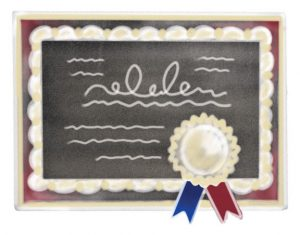 graphic of a diploma