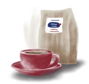 drawing of coffee
